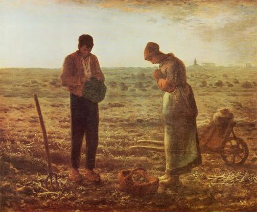 The Angelus -a famous painting by the French painter Jean-Francois Millet